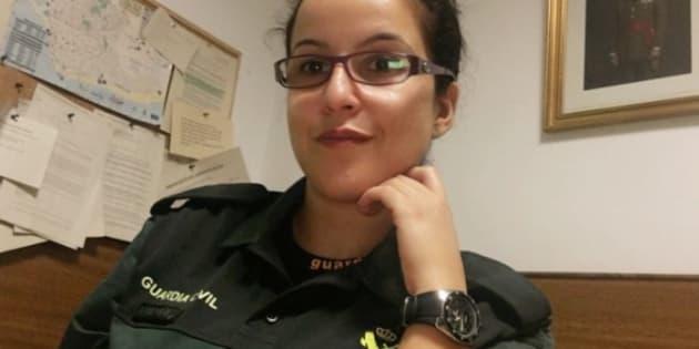 La guardia civil Luisa María Flores, en una foto difundida por la AUGC.