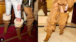 Ces bottes cuisssardes UGG à talons sont