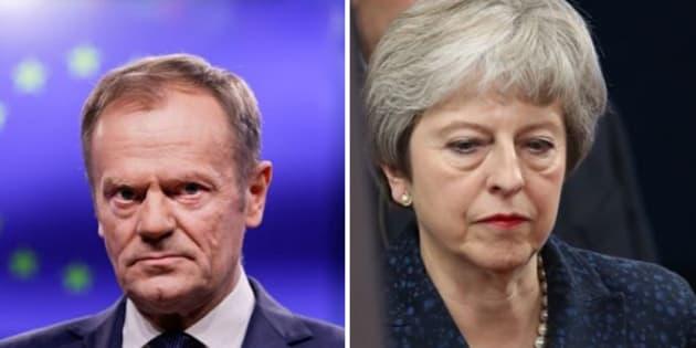 Donald Tusk - Theresa May