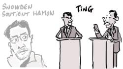 Snowden suit le débat de la primaire de la gauche et soutient