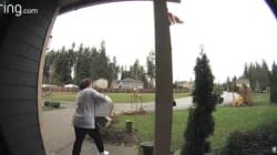 Une voleuse de paquet se fait rapidement rattraper par le