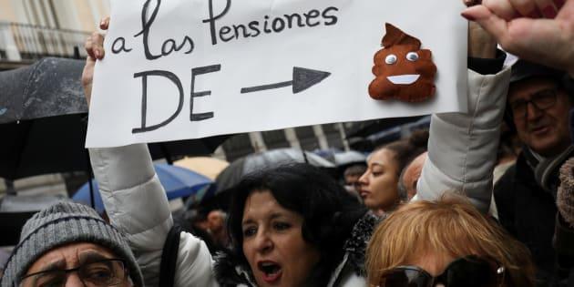 Manifestación por la subida de las pensiones en Madrid, el pasado 1 de marzo.