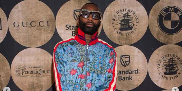Rapper Riky Rick Makhado wore Gucci to the preview weekend of the Zeitz Museum of Contemporary African Art.