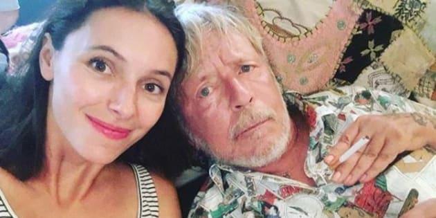 Lolita Séchan et son papa le chanteur Renaud.