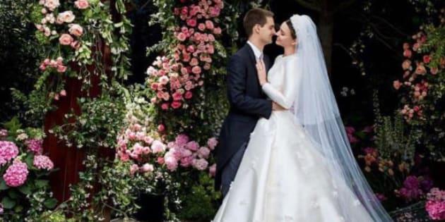 Miranda Kerr dévoile sa sublime robe de mariée Dior