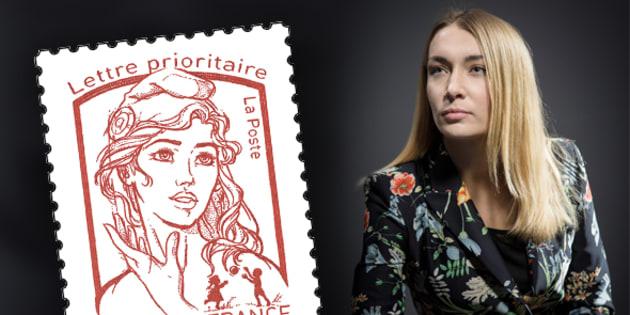 La Femen Inna Shevchenko a inspiré le timbre actuel.