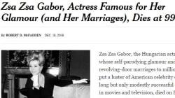 Zsa Zsa Gabor, la première people
