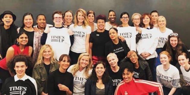 Lena Dunham chahutée après s'être invitée sur une photo de Time's Up, où elle n'avait rien à faire.
