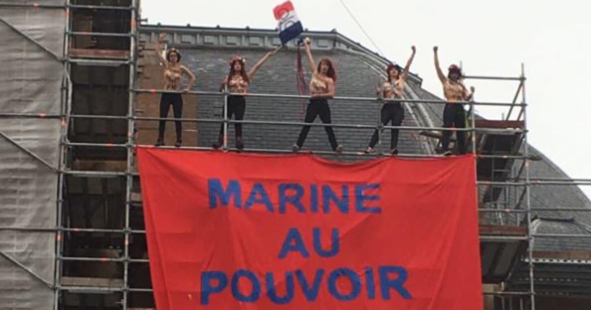 Election pr sidentielle 2017 les femen d ploient une for Le bureau henin beaumont