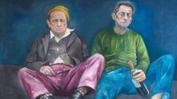 Sarkozy et Hollande imaginés en réfugiés par un