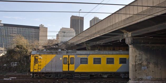 Metro Train in inner-city Johannesburg.