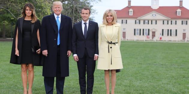 La missione di Macron negli Usa: doni, complimenti e sorrisi in cambio di un sì sull