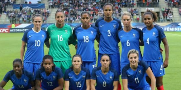 L'équipe de France avant d'affronter la Norvège à Sedan le 11 juillet 2017.