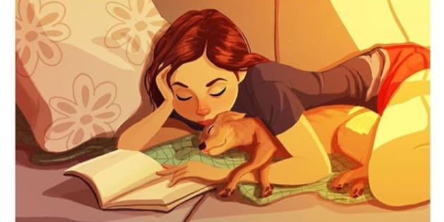 Queste illustrazioni tenerissime dimostrano che i cani sono i coinquilini migliori