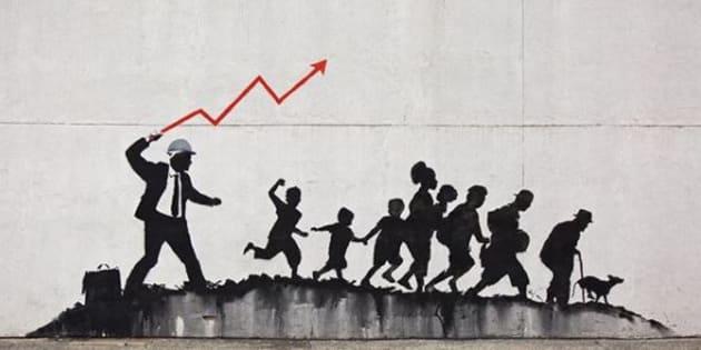 Il ritorno di Banksy a New York è un manifesto contro il cap
