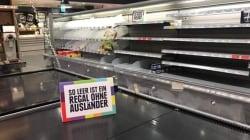 Un supermercado alemán vacía sus estantes de productos extranjeros por un buen