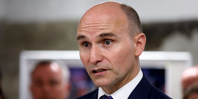 Federal Minister of Families, Children and Social Development Jean-Yves Duclos is seen at a youth homelessness organization in Toronto on June 11, 2018.