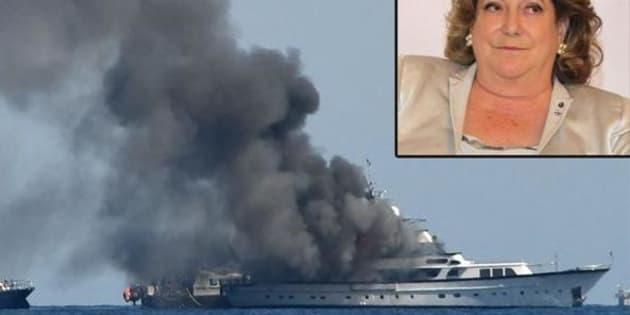 Incendio a bordo, affonda lo yacht di Diana Bracco