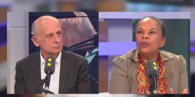 Christiane Taubira était l'invitée de France Info lundi 20 mars.