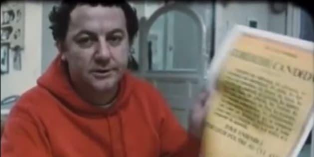 Coluche présentant sa candidature à la présidentielle de 1981.