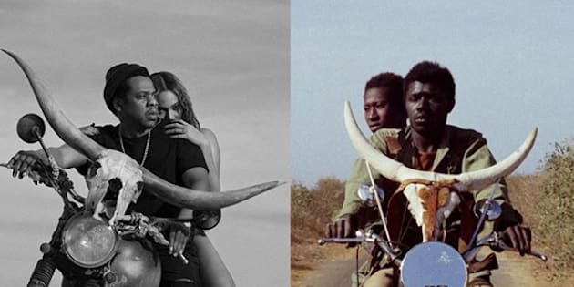 """Beyoncé et Jay-Z ont """"emprunté"""" l'image de """"Touki Bouki"""", un film sénégalais pour la promotion de leur tournée commune."""