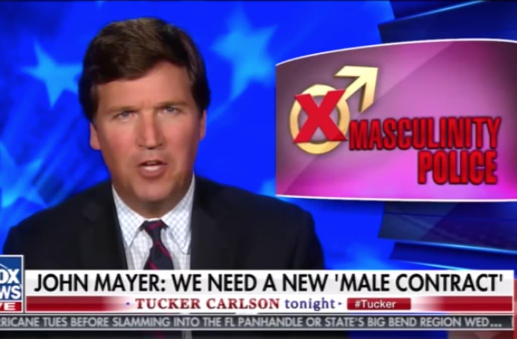 Tucker Carlson recites John Mayer lyrics in toxic ...