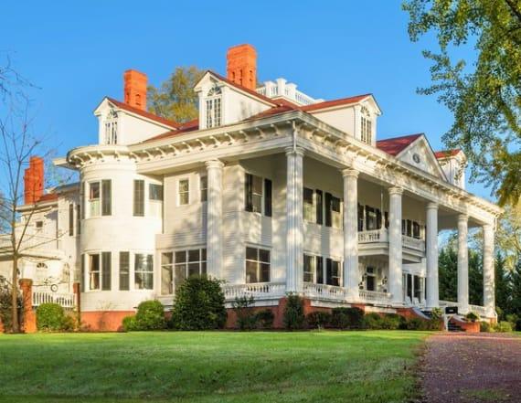 鈥楪one With the Wind'-inspired mansion is up for sale