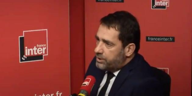 Castaner sur France Inter jeudi 1er février.