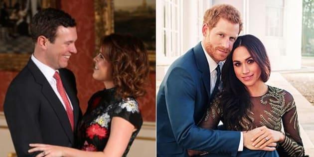 Le foto di fidanzamento di Meghan e Eugenia rivelano 6 differenze tra le due (secondo gli esperti)