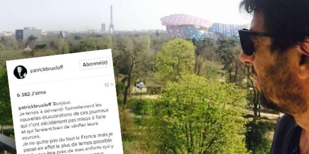 Patrick Bruel dément s'exiler en France sur les réseaux sociaux