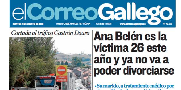 El desafortunado titular de un periódico sobre la última víctima de la violencia de género