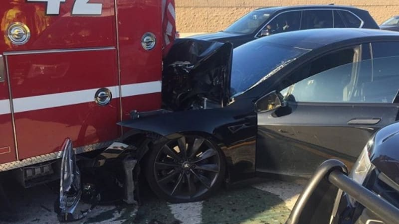 Tesla on Autopilot plows into fire truck at 65 mph; NTSB investigating
