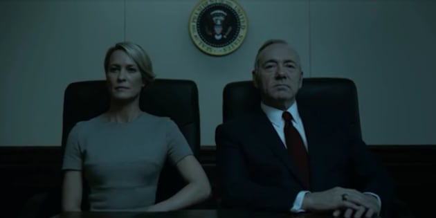"""Franck et Claire Underwood dans le dernier épisode de la saison 4 de """"House of Cards"""""""