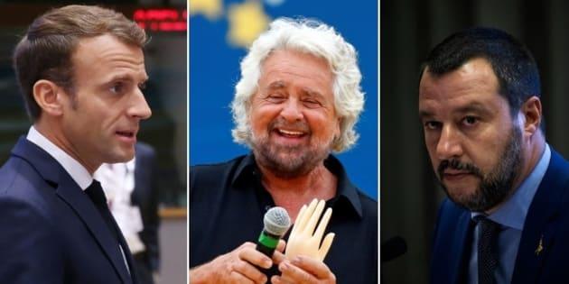 """Grillo choc al Circo Massimo: """"Macron? Un bambino viole"""