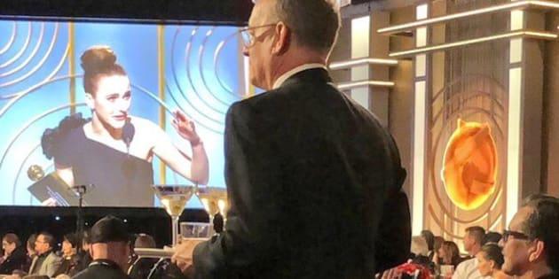 Aux Golden Globes 2018, Tom Hanks a servi des martinis toute la soirée