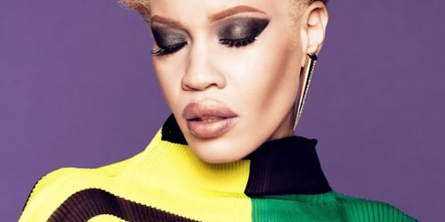 Diandra Forrest, première mannequin albinos à devenir l'égérie d'une grande marque de beauté