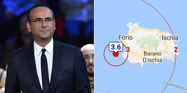 """""""A Ischia la situazione è tranquilla. False notizie solo per portare panico"""". Il post di Carlo Conti fa infuriare tutti"""