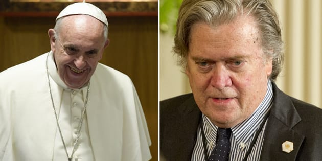 """Steve Bannon attacca Papa Francesco: """"Tenta di denigrare il populismo, è da disprezzare"""""""