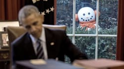 White House Staff Pranks President Obama With Creepy
