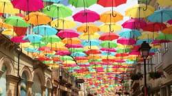 📷 Umbrella Sky: sombrillas de colores invaden el mundo y también