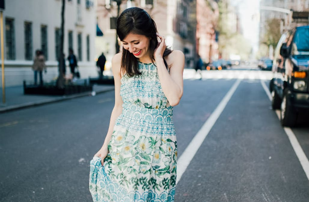 102e4f2a4f Street style tip of the day  Halter maxi dress - AOL Lifestyle