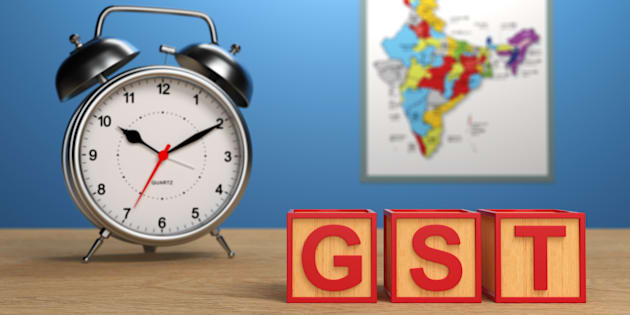 G S T concept with Indian Map - 3D Rendering Image