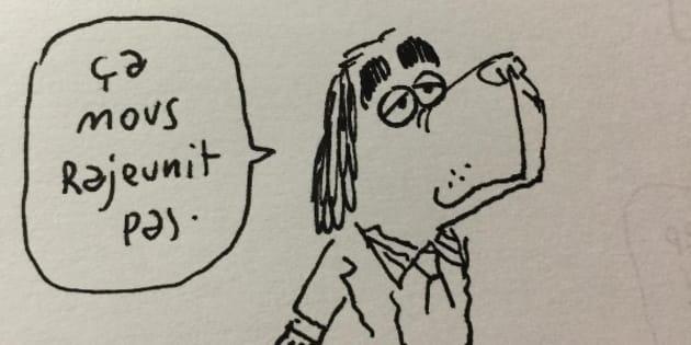 """Comme souvent avec l'auteur du """"Chat du Rabbin"""", l'apparente légèreté du propos n'est qu'une manière humoristique de parler du fond (notamment le programme très à conservateur de François Fillon)."""