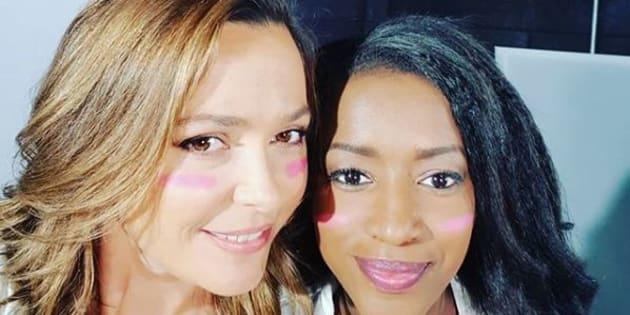 Sandrine Quétier et Hapsatou Sy sont engagées dans la campagne de l'Octobre Rose.