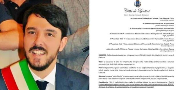 """Il sindaco di Lentini provoca il governo: """"Rateizzate i"""
