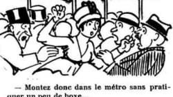 Les «frotteurs» sévissaient déjà dans le métro bondé en 1910... au grand dam des