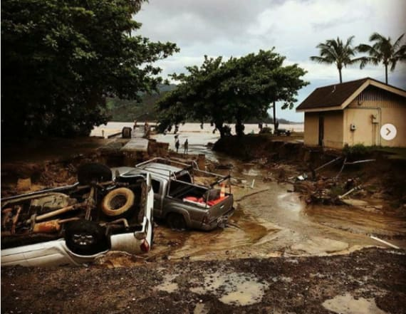 Historic floods, landslides ravage Hawaiian island