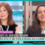 La respuesta de Ana Rosa tras lo que dijo Inés Arrimadas en 'El programa de AR':