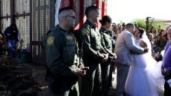 FOTOS: Mexicana y estadounidense se casan hasta que el muro los