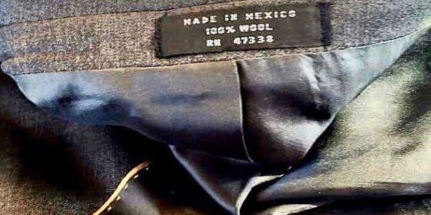Cara Delevingne a publié une photo de l'étiquette d'un costume Trump datant de 2015.